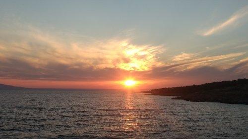 Sonnenuntergang auf Pag - Sehnsucht und Trauer und Vermissen