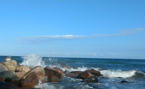 Die Trauer am Meer vom Wind davonpusten lassen...